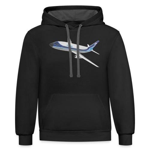 03 - 732 FlyBy - Unisex Contrast Hoodie