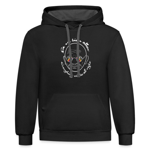Gandhi's message of hope COVID white - Unisex Contrast Hoodie