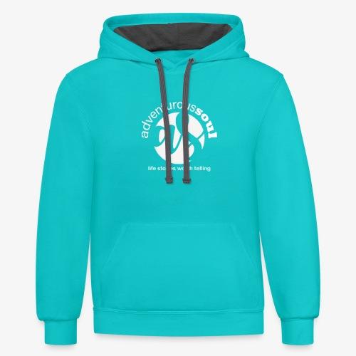 Adventurous Soul Wear for Life's Little Adventures - Unisex Contrast Hoodie