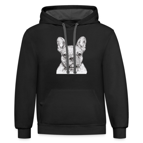 French Bulldog - Contrast Hoodie