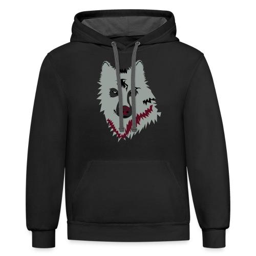 mens t-shirts - Contrast Hoodie