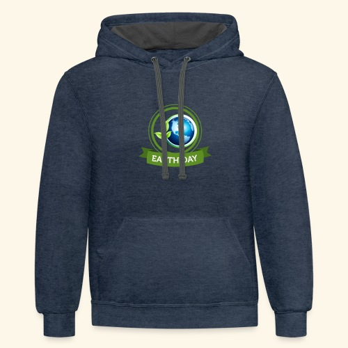 Happy Earth day - 3 - Contrast Hoodie