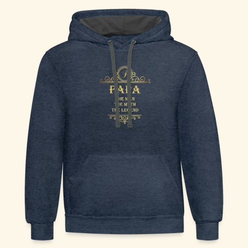 Papa the man the myth the legend - 2 - Contrast Hoodie