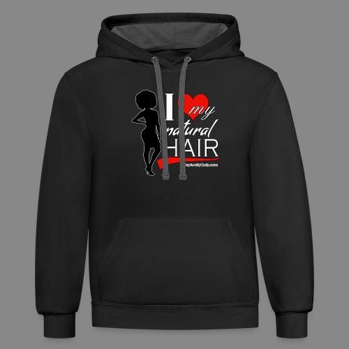 Love Natural Hair (Afro) - Contrast Hoodie