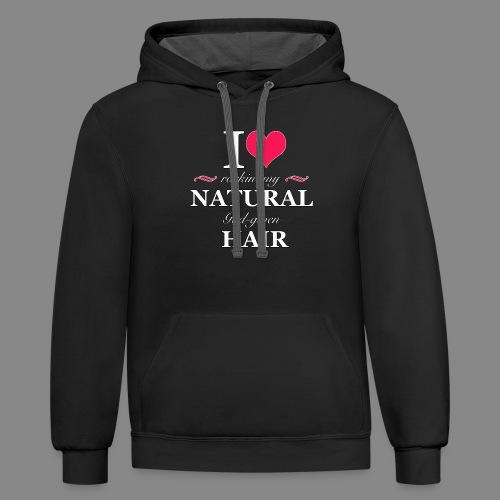 Love Rockin Natural Hair - Unisex Contrast Hoodie