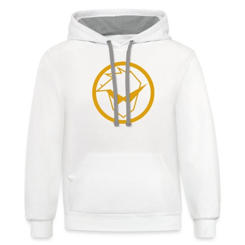 FG Phone Cases (Pure Clean Gold) - Unisex Contrast Hoodie