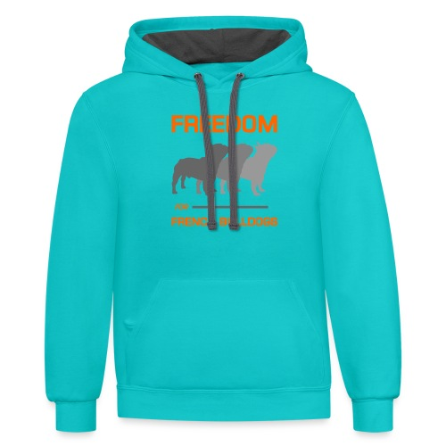 French Bulldogs - Contrast Hoodie