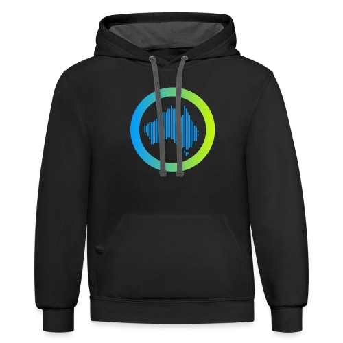 Gradient Symbol Only - Contrast Hoodie