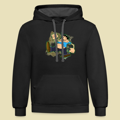 Ongher's UFO Ongher March - Unisex Contrast Hoodie