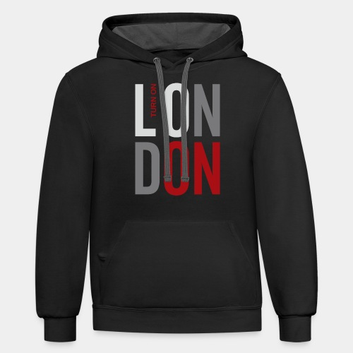 london england great britain - Contrast Hoodie