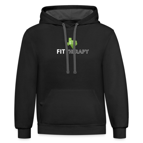 fit therapy - Contrast Hoodie