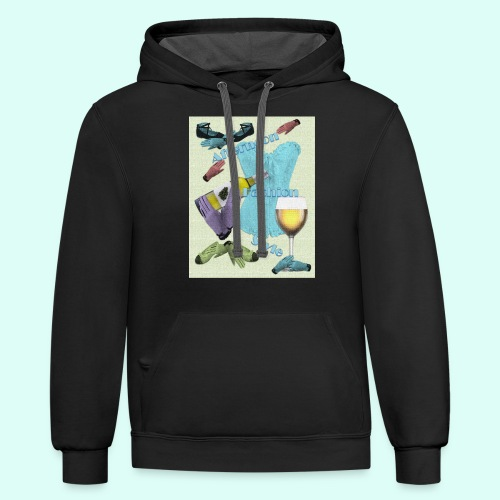 Afternoon Fashion Style - Unisex Contrast Hoodie