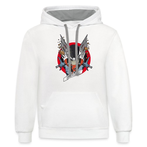 Space fighter color - Unisex Contrast Hoodie