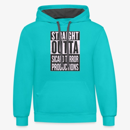 Strait Out Of Sicard Terror Productions - Contrast Hoodie