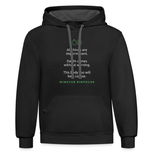 T Shirt Quote All things are impermanent Mingyu - Unisex Contrast Hoodie