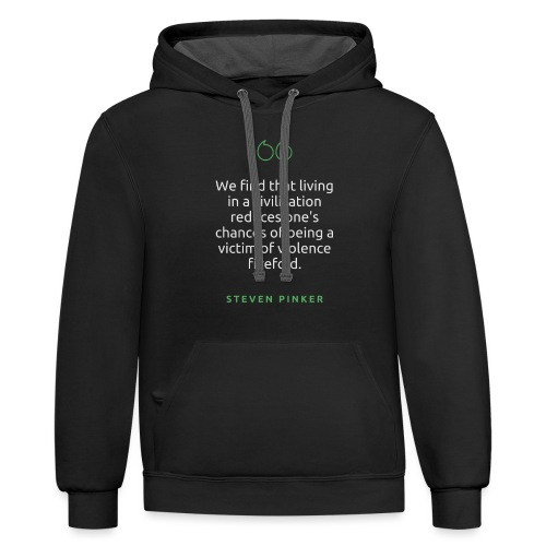 T Shirt Quote We find that living in a civilizati - Unisex Contrast Hoodie
