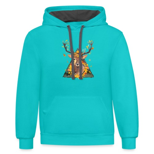 The Spirit of the Forest - Contrast Hoodie