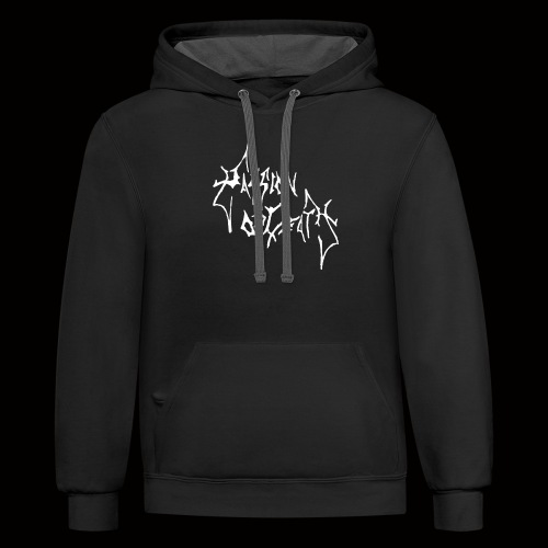 Passion of Death Logo T Shirt Design - Contrast Hoodie