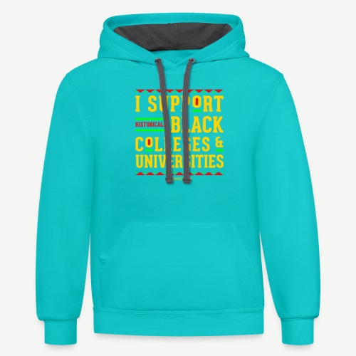 I Support HBCUs - Contrast Hoodie