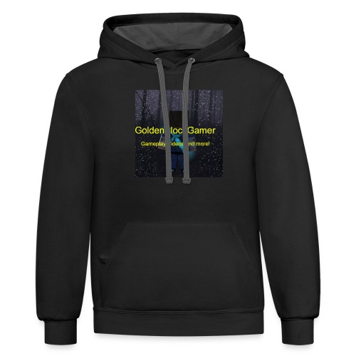 GoldenBlockGamer Tshirt - Contrast Hoodie