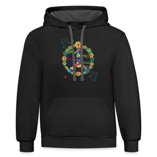 Floral Peace - Contrast Hoodie