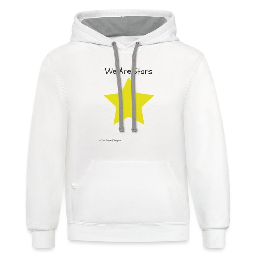 Hi I'm Ronald Seegers Collection-We Are Stars - Contrast Hoodie