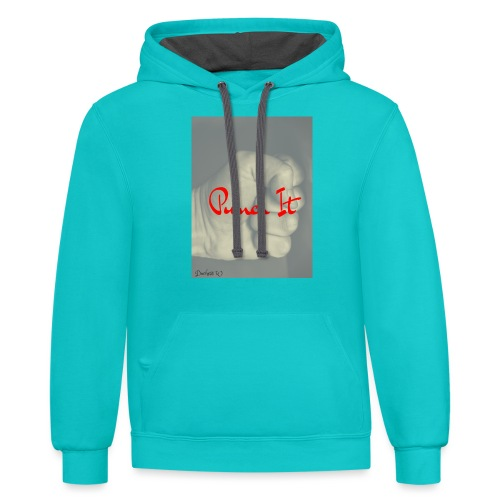 Punch it by Duchess W - Contrast Hoodie