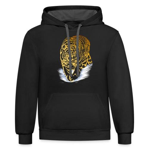 Golden Snow Tiger - Contrast Hoodie