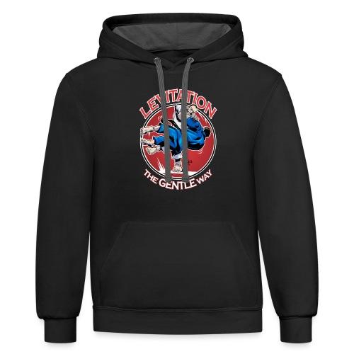 Judo Shirt - Levitation for dark shirt - Unisex Contrast Hoodie
