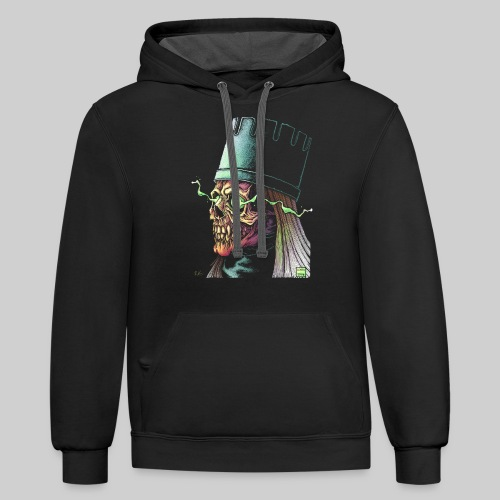 VAMPIRE LICH - BLACK APPAREL ONLY RECOMMENDED - Unisex Contrast Hoodie