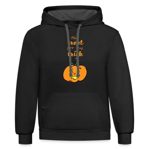 Trick or Treat Maternity - Contrast Hoodie