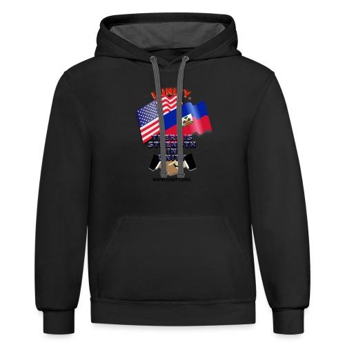 The Flag of Haiti E03 - Unisex Contrast Hoodie
