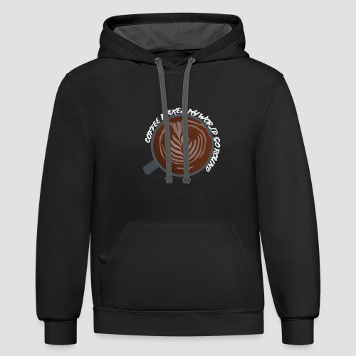 Coffee Is My World - Unisex Contrast Hoodie