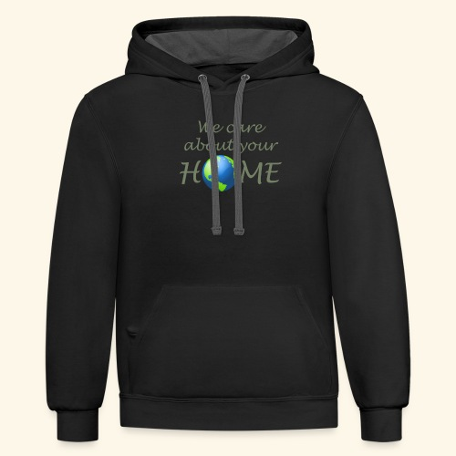 Happy Earth day - Contrast Hoodie