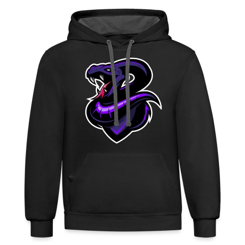 Poisonous Logo Only - Contrast Hoodie