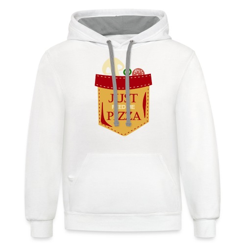 Just feed me pizza - Contrast Hoodie