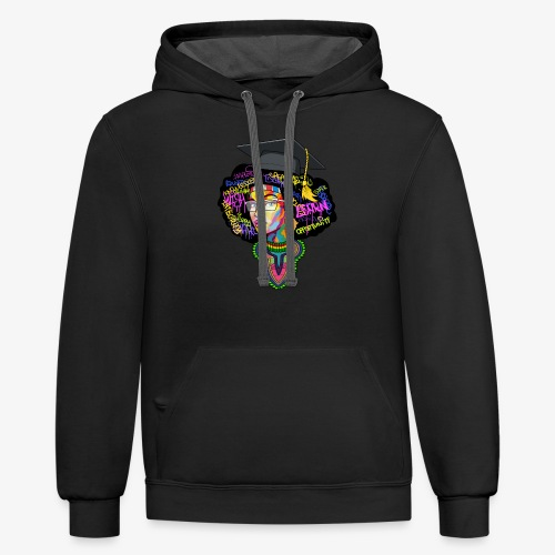 Smart Black Woman - Contrast Hoodie