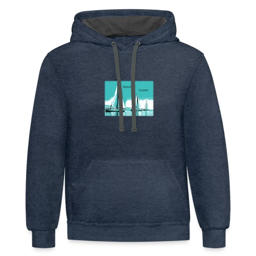 Beautiful Croatia - Contrast Hoodie