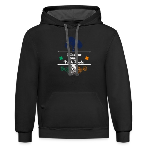ALASKAN WITH IRISH ROOTS - Contrast Hoodie