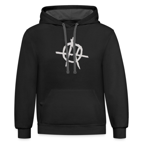 Anarchy (Grey) - Unisex Contrast Hoodie