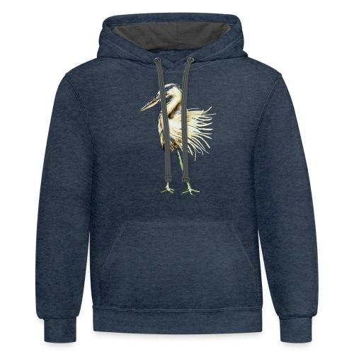 Great Blue Heron - Contrast Hoodie
