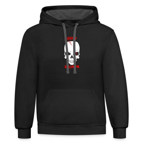 Halloween Skull - Contrast Hoodie