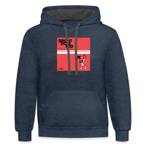bright dog red album 3000px - Contrast Hoodie