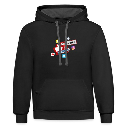 Subscribe, like & share - Unisex Contrast Hoodie