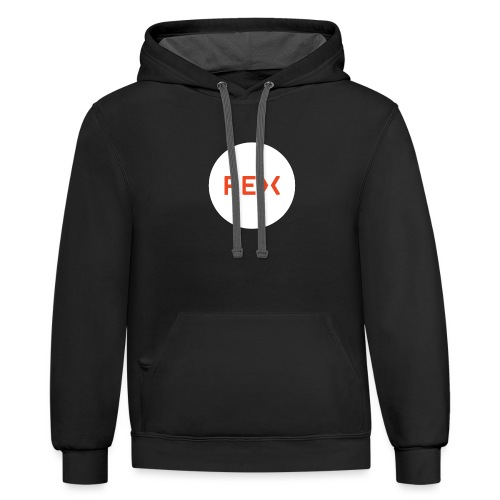 REX Circle Logo - Unisex Contrast Hoodie
