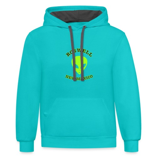 Roswell New Mexico - Contrast Hoodie