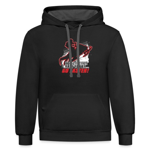 Snowmobile Faster Red - Contrast Hoodie