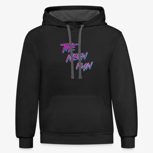 The Neon Man Retro - Unisex Contrast Hoodie