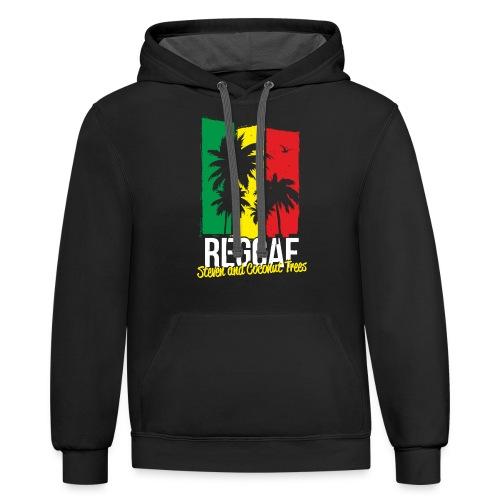 reggae - Unisex Contrast Hoodie