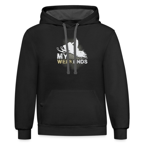 Snowmobile My Weekends - Contrast Hoodie